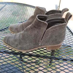 Dolce Vita gray suede ankle boot